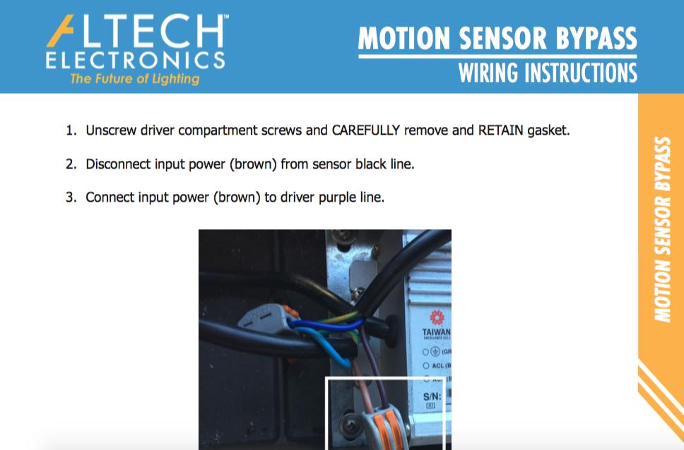 Motion Sensor Bypass