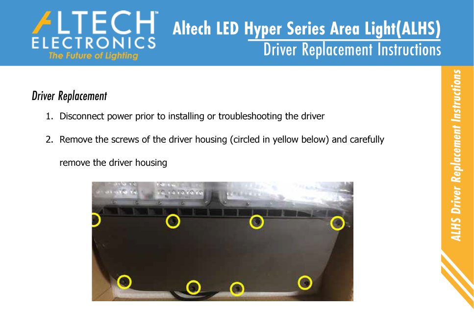 Area Light Driver Replacement