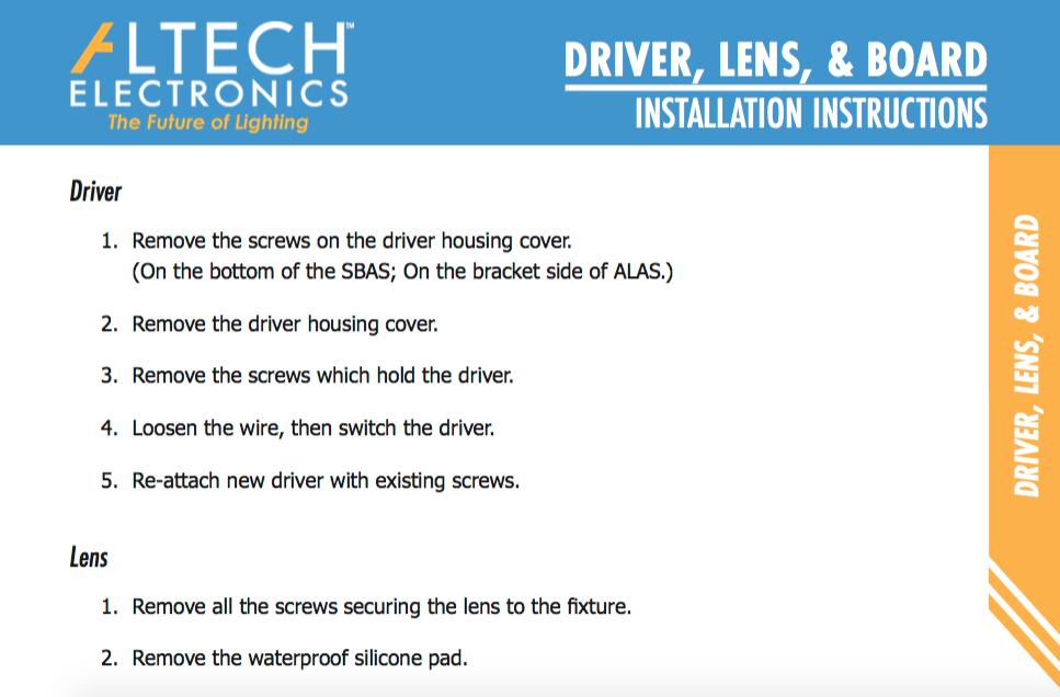 Driver, Lens, & Board