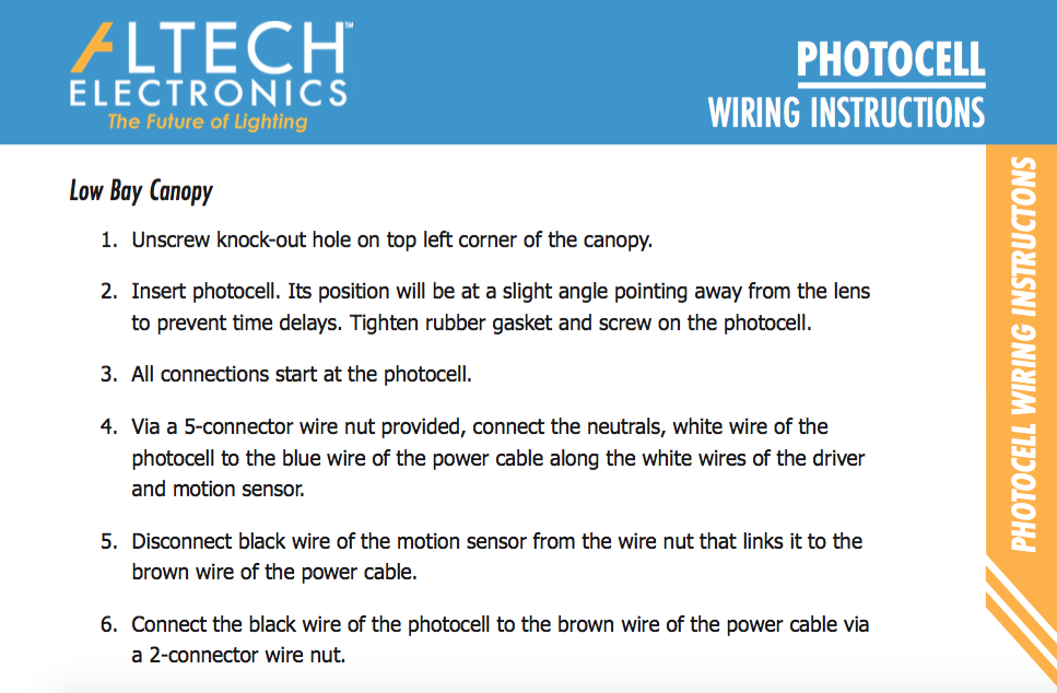 Photocell Wiring